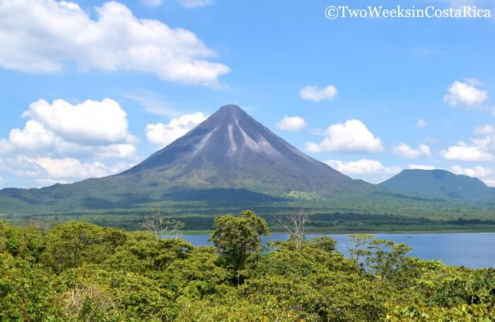 View of Arenal Volcano from La Peninsula Sector