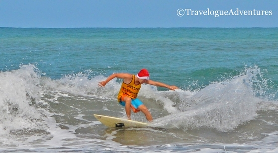Santa Surfer Costa Rica Picture