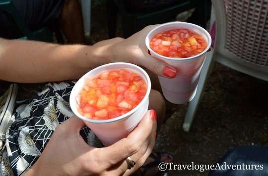 Authentic tropical fruit drink at Costa Rican wedding picture