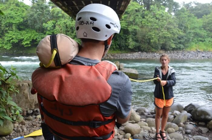 Rafting Safety Talk Outward Bound | Two Weeks in Costa Rica