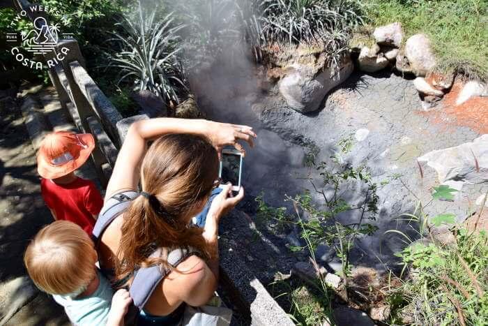 Volcanic features along trail at Rincon de la Vieja