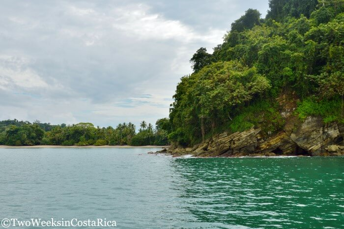 The View of Manuel Antonio National Park from the water