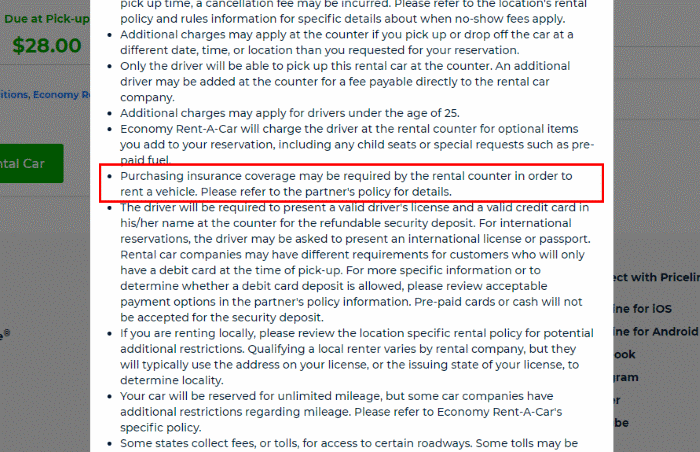 Watch out for the fine print on rental car contracts!