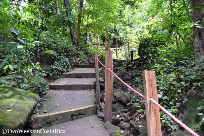 Stairs leading to Cortez Waterfall