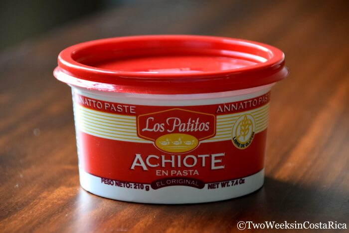 Achiote Paste for Making Arroz con Pollo