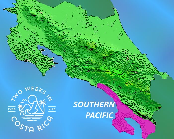 Map Costa Rica Southern Pacific