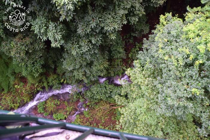 River Flowing Under Tram