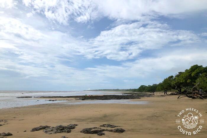 Playa Avellanas View at Low Tide