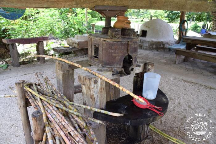 Traditional sugar cane mill in Costa Rica