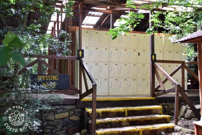 Lockers Entrance Hacienda Guachipelin Hot Springs
