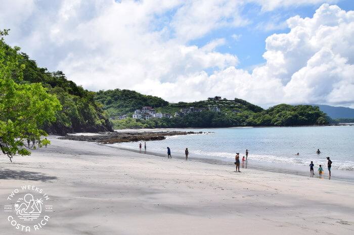 Uncrowded beach Costa Rica Covid