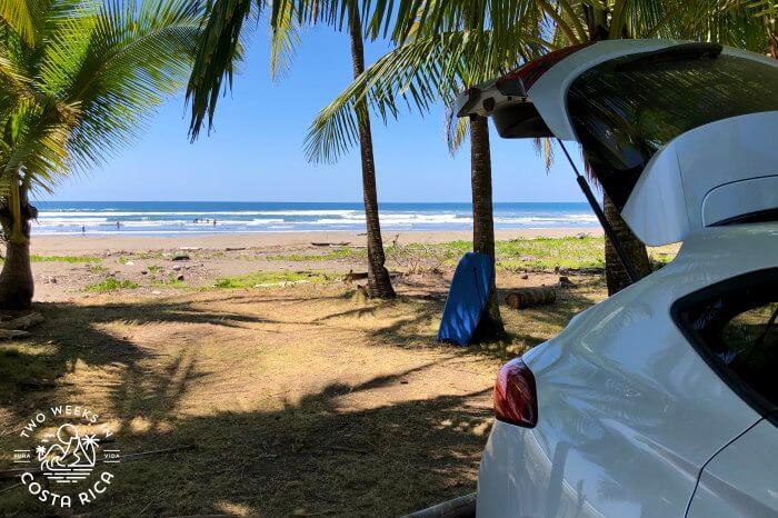 Playa Bejuco Beach Parking