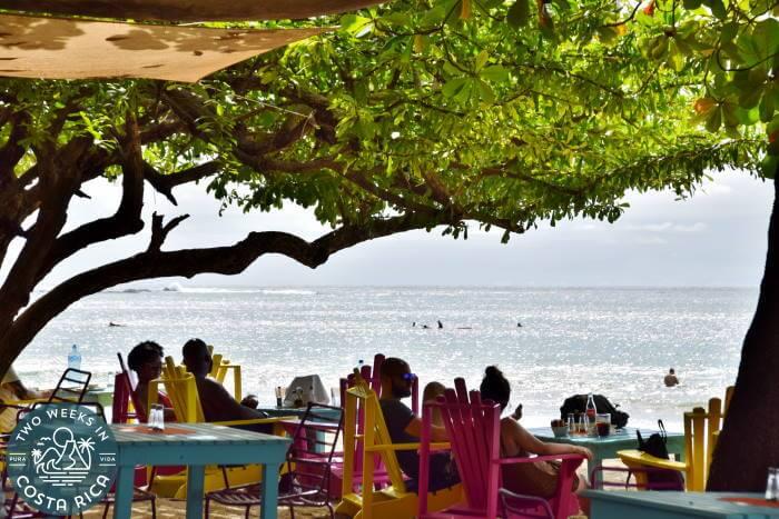 Beachside restaurant Tamarindo