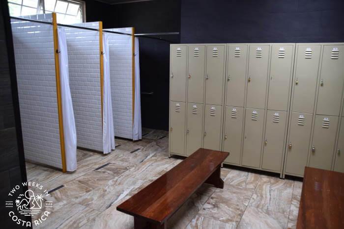Locker room Hacienda Orosi