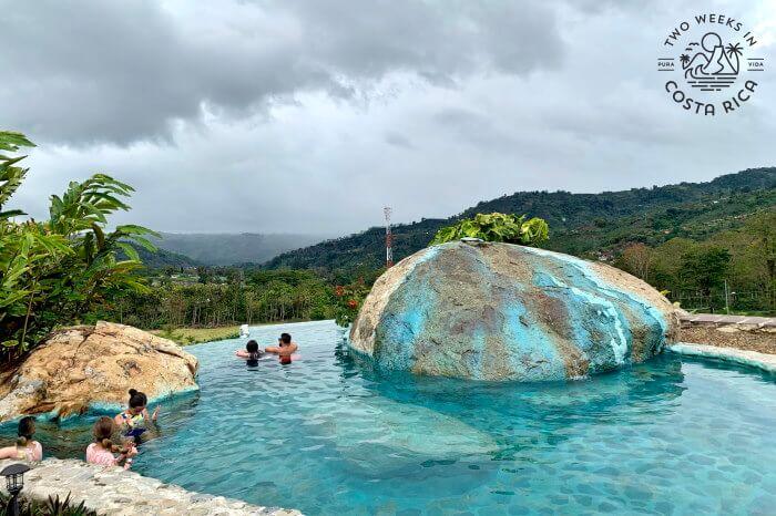 Infinity hot springs pool