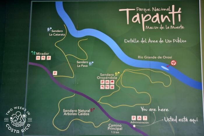 Trail Map Tapanti National Park
