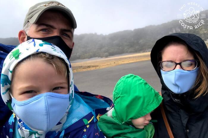 Family Travel Irazu Volcano