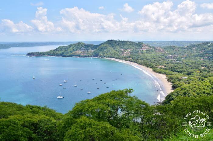 Playa Hermosa Guanacaste aerial view rainy season