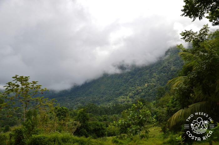 Typical rainy season weather Costa Rica
