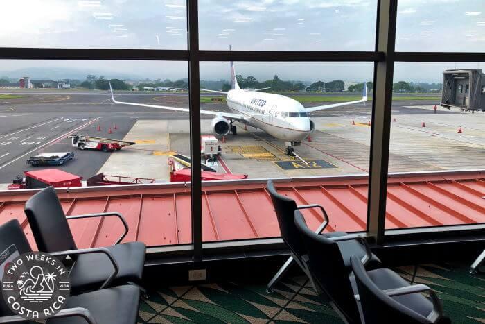 Airplane at Gate SJO