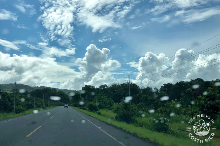 Light rain rainy season Costa Rica