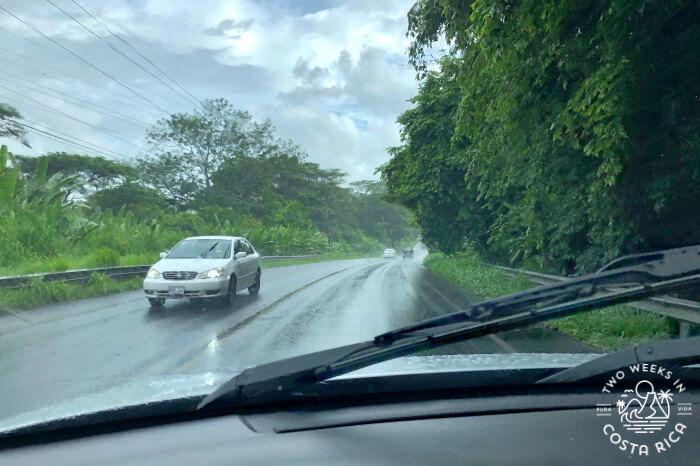 Driving in Rainy Season Costa Rica