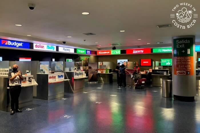 Rental Car Agency Desks SJO Airport
