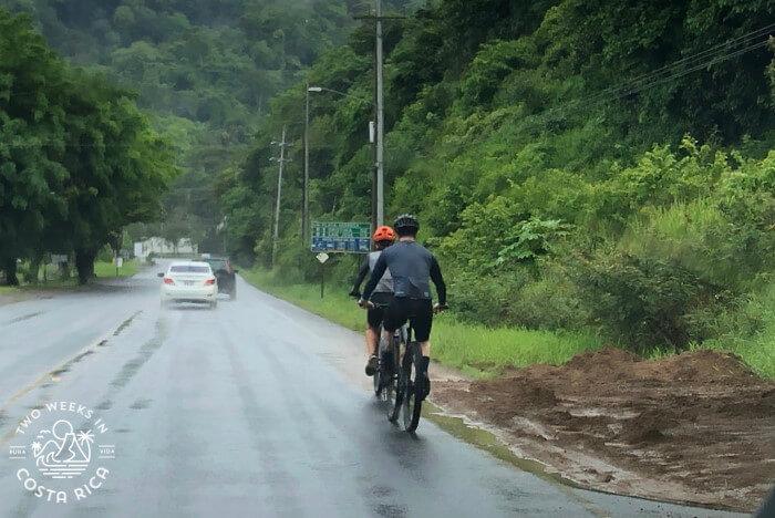Small washout Costa Rica rainy season