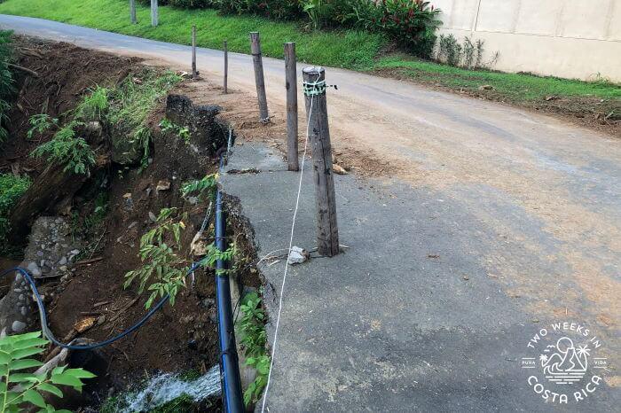 Road Washout Costa Rica