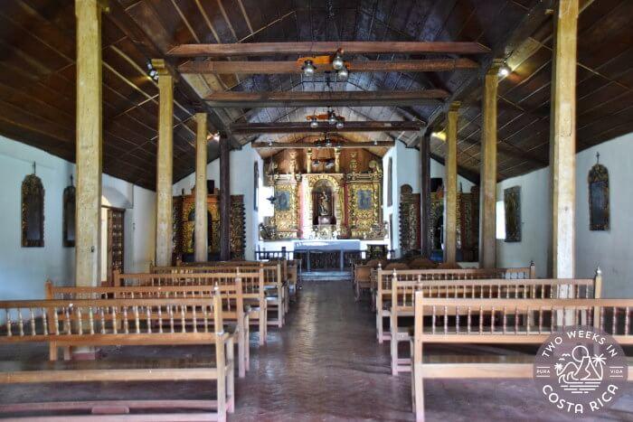 Inside Iglesia Colonial de Orosi