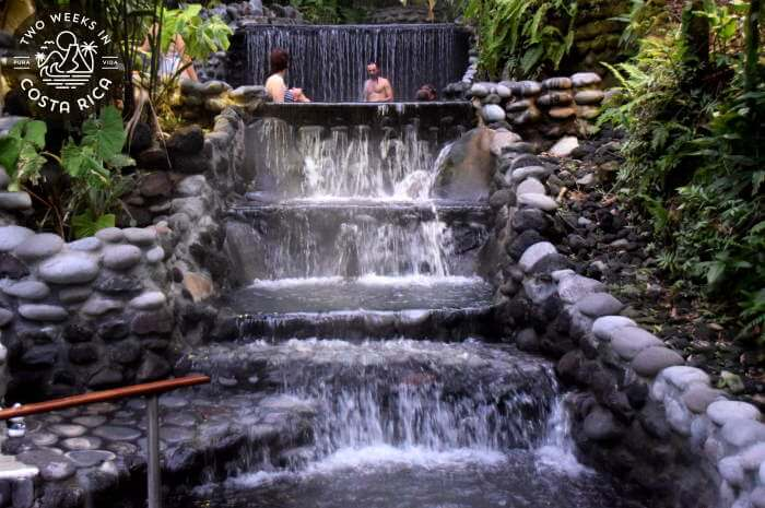 Hottest pools and waterfall