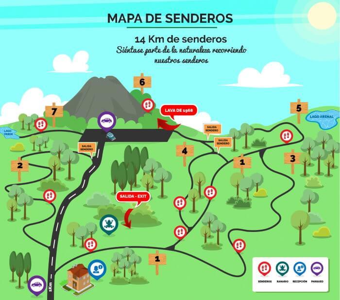 Trail Map Mirador El Silencio