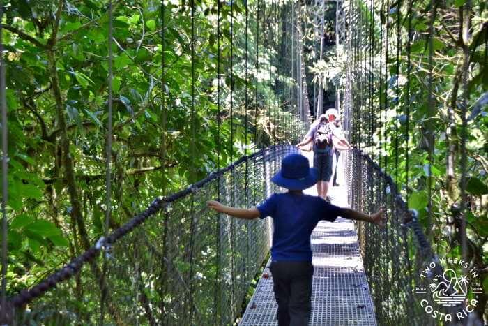 Family Hanging Bridges La Fortuna