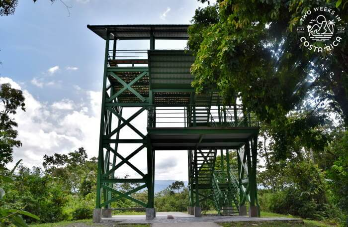 Lookout tower Arenal Volcano National Park